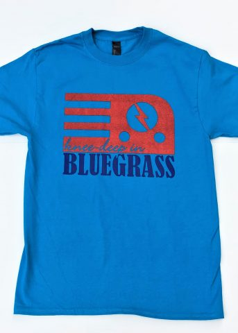 Knee-Deep in Bluegrass Teal T Shirt